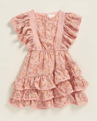 BCBGirls Girls 7-16) Ruffle Peasant Dress