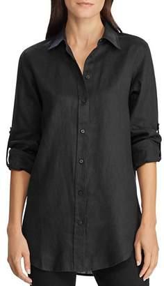 Ralph Lauren Linen Roll-Tab Button-Down Shirt