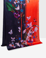 Ted Baker Tropical Oasis silk long scarf