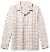 Sleepy Jones - Henry Piped Checked Cotton Pyjama Shirt - Cream