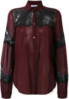 Blumarine lace panel shirt