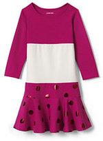 Classic Little Girls Academy Dress-Velvet Flocked Hearts