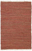 "St. Croix Trading Copper Matador Leather and Hemp Rug, 2'6""x4'2"""