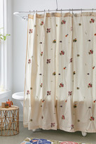 Urban Outfitters Georgine Embroidered Shower Curtain