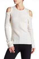 Elie Tahari Cold Shoulder Knit Sweater