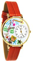 Whimsical Watches Women's G0640003 Preschool Teacher Red Leather Watch