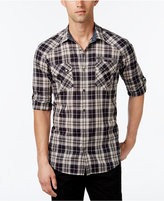 INC International Concepts Men's Knight Plaid Long-Sleeve Shirt, Only at Macy's
