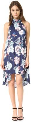 MinkPink Women's Little Blossom High-Neck Print Swing Dress