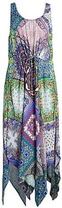Hale Bob Handkerchief Hem Maxi Dress