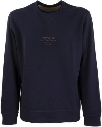 Brunello Cucinelli Cotton Sweatshirt With Central Writing