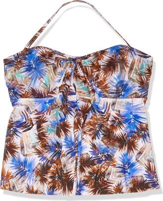 Fit 4 U Women's Plus Size Ever Blade mesh Convertible Molded Bra Swim top