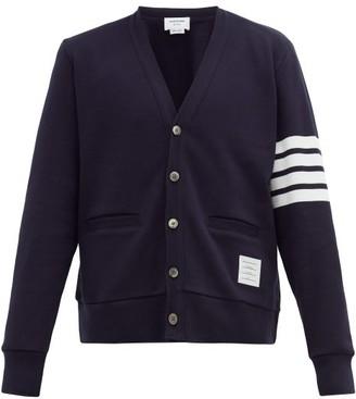 Thom Browne 4-bar Sleeve-stripe Cotton Cardigan - Mens - Navy
