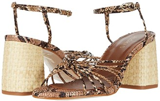 ALOHAS Praia 2 Heeled Sandals (Snake) Women's Shoes