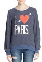 Wildfox Couture I Love Paris Graphic Sweatshirt