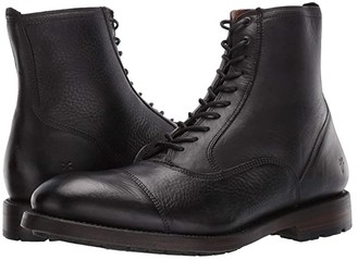 Frye Bowery Bal Lace-Up (Black Soft Antiqued) Men's Boots