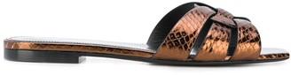 Saint Laurent Tribute lizard-effect sandals