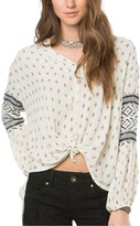 O'Neill Women's Lilith Print Peasant Blouse