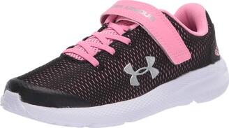 Under Armour Unisex Kids' Pre School Pursuit 2 AC Road Running Shoe Black (Black/White/White (001) 001) 12.5