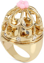 Betsey Johnson Gold-Tone Birdcage Statement Ring