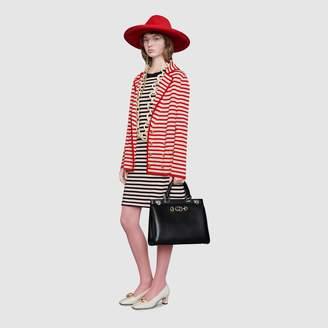 Gucci Zumi diagonal stripe medium top handle bag
