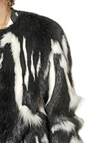 Roberto Cavalli Patchwork Fur Coat