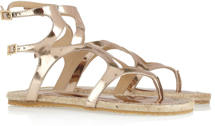 Jimmy Choo Peachy metallic leather gladiator sandals