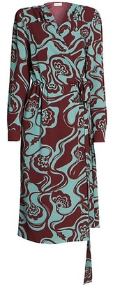 Dries Van Noten Print Wrap Dress