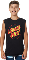 Santa Cruz Kids Boys Other Dot Muscle Singlet Black