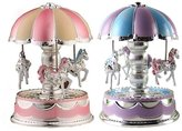 Chinatera LED Light Merry-Go-Round Music Box Christmas Birthday Gift Toy Carousel Kids Musician Educational Toys