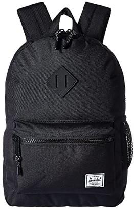 Herschel Supply Co. Kids Heritage Youth (Big Kids) (Black/Black Rubber) Backpack Bags