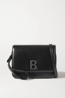 Balenciaga B Dot Leather Shoulder Bag - Black