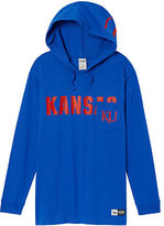 Victoria's Secret Victorias Secret University Of Kansas Long Sleeve V-Neck Campus Tee