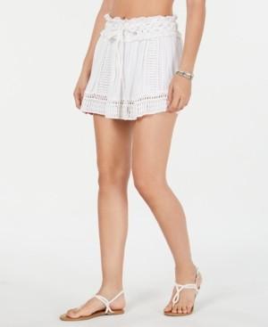 Raviya Drawstring-Waist Crochet Cover-up Skirt Women's Swimsuit