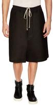 Rick Owens Cotton Solid Wide Leg Shorts