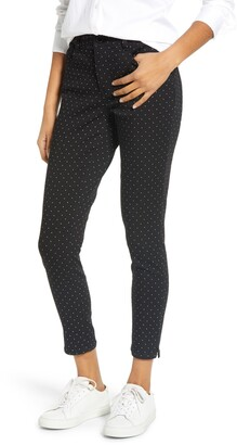 Wit & Wisdom Ab-Solution High Waist Polka Dot Ankle Skinny Pants