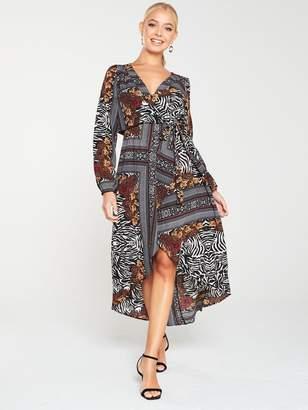 AX Paris Printed Wrap Dress - Multi