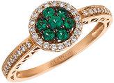 Le Vian 14ct Strawberry Gold Costa Smeralda Emerald Ring