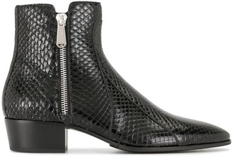 Balmain Mike python boots