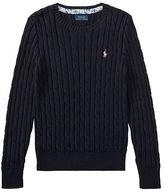 Ralph Lauren 7-16 Cable-Knit Cotton Sweater