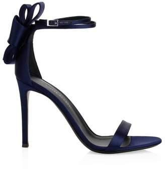 Giuseppe Zanotti Silk Bow Slingback Sandals