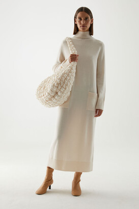 Cos Long Boiled Lambswool Dress