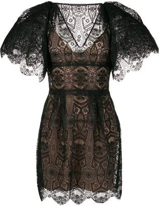 Alberta Ferretti short lace dress