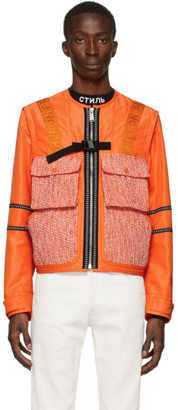 Heron Preston Orange Utility Jacket