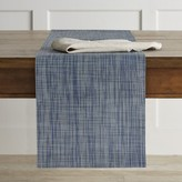 Chilewich Mini Basketweave Runner, Chambray