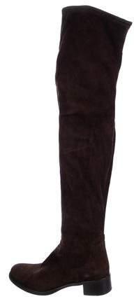 Prada Suede Thigh-High Boots