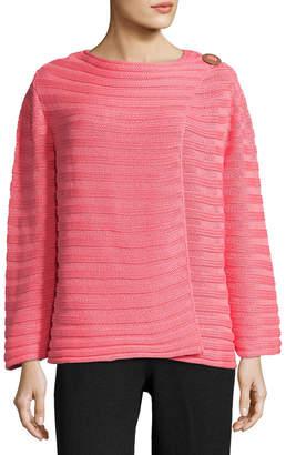 Pure Handknit Plus Size Summer Crush Ribbed Cardigan Sweater
