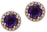 Effy Diamonds, Amethyst and 14K Rose Gold Stud Earrings
