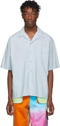 Marni Blue Poplin Short Sleeve Shirt