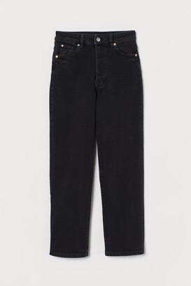 H&M Vintage Straight High Jeans - Black