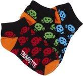 Trumpette Skull Kid Socks (Toddler/Kid) - Bright Skull-Medium
